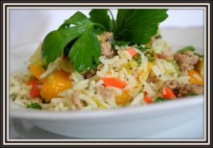 Povrće sa mlevenim mesom i pirinčom 004
