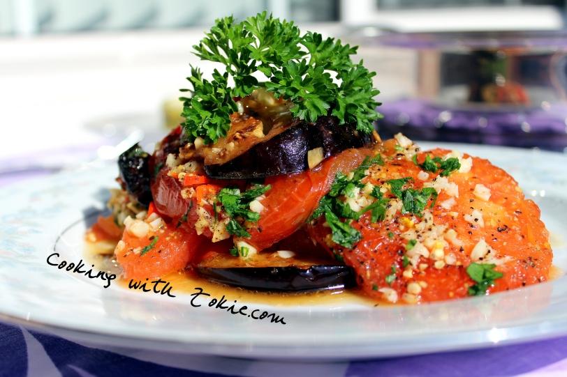 Garlicky Eggplant with Tomatoes (Badimjan Sirdaghi) 006