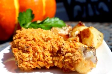 Pečena piletina u kaputiću od čipsa
